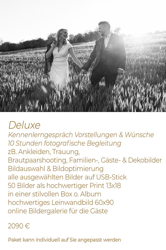 Hochzeitspaket Deluxe Preis Leistung