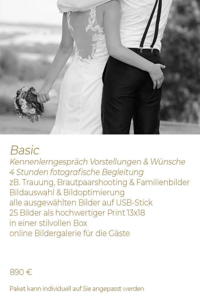 Hochzeitspaket Basic Preis Leistung